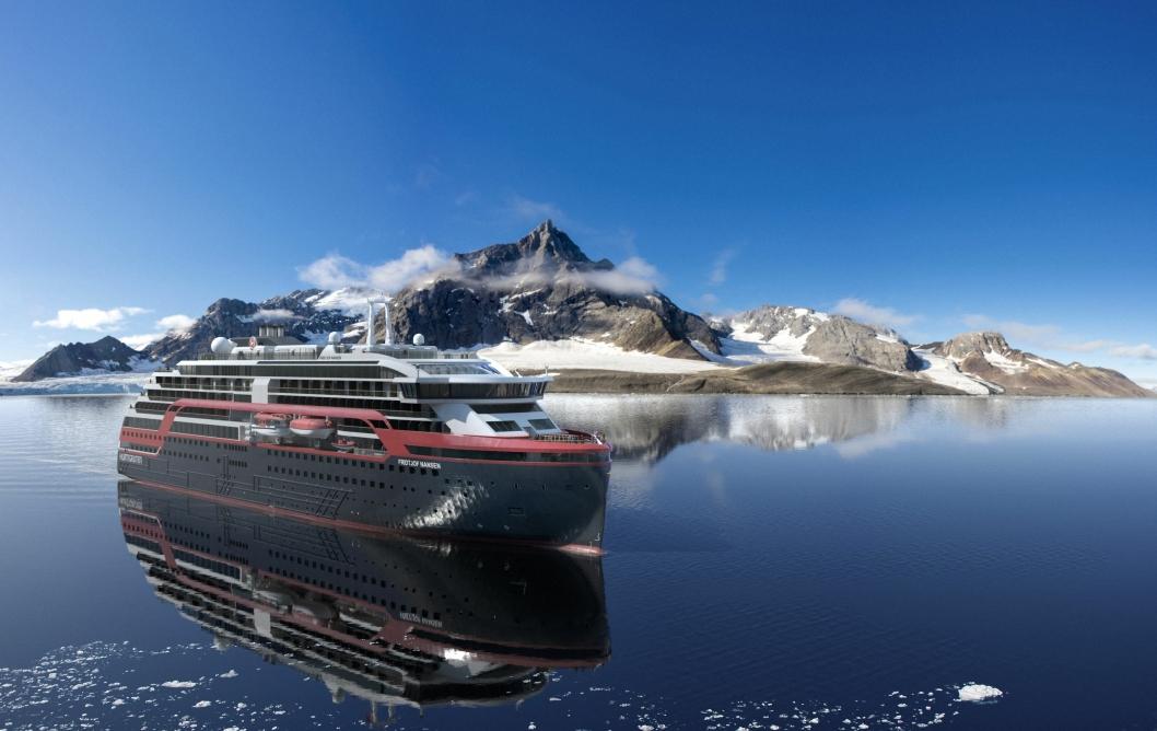 Ekspedisjonscruiseskipene Hurtigruten har under bygging ved Kleven Verft i Ulsteinvik er spekket med grønn teknologi og avanserte løsninger.