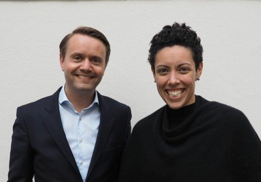 Gjøran Sæther og Naja Boone er strålende fornøyd med den nye profilen.