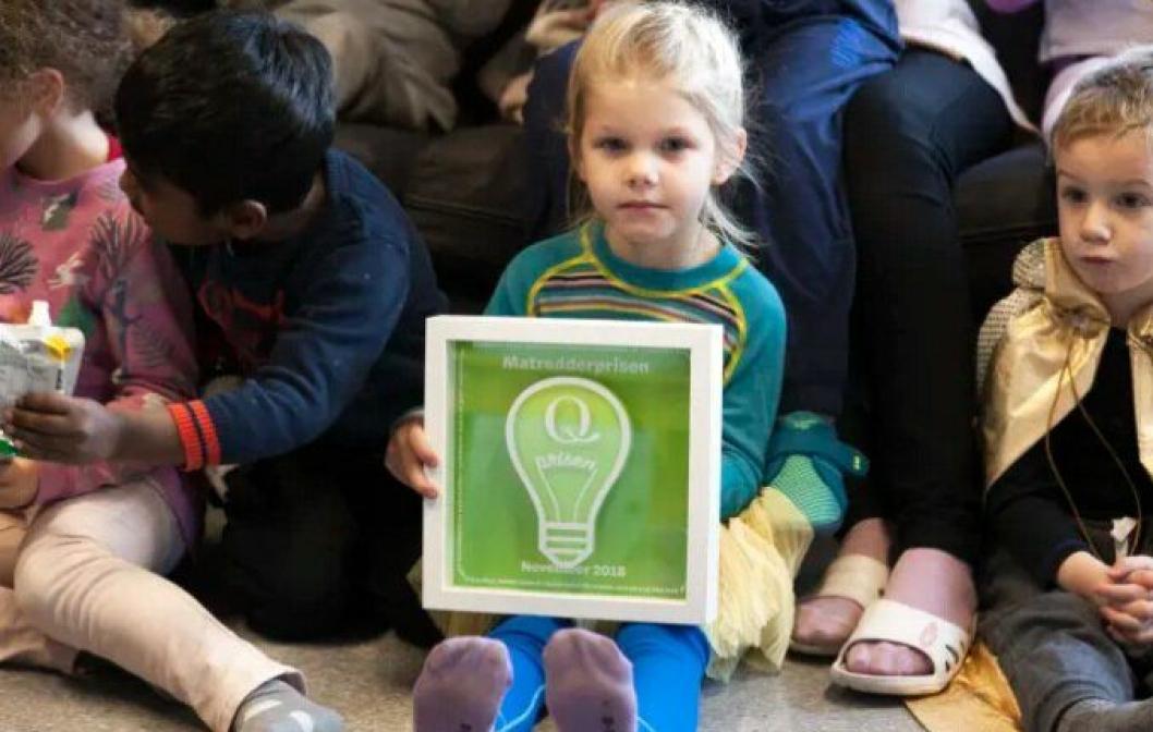 Kidsa Løvåsbakken barnehage fikk denne uken Matredderprisen for sitt arbeid i kampen mot matsvinn.