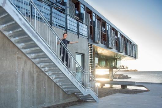 HELSEGEVINST: – Vi har bygd den for folkehelsa, sier Lasse Eriksen.
