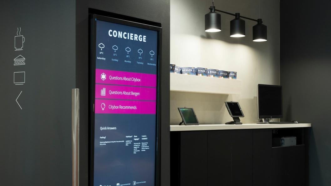 SELVGJORT: Hos Citybox løser gjesten de fleste av oppgaven selv, eller ved hjelp av digitale hjelpemidler.