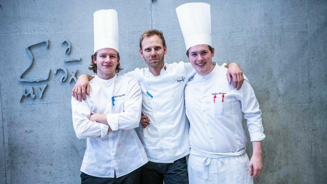 Audun Blystad og Håvard Onsøyen fra Statholdergaarden vant kokkekonkurransen.