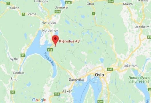 HER: Kleivstua ligger 45 km fra Oslo, i retning Hønefoss.