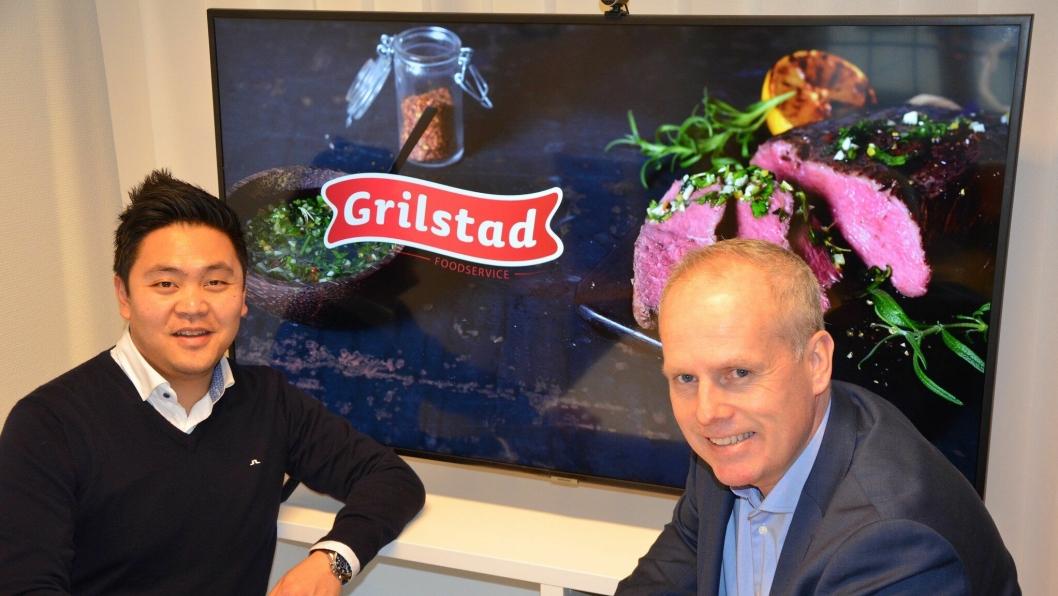 Markedsjef Sindre Tanum og direktør Tor-ArneMellbye i Grilstad Foodservice.