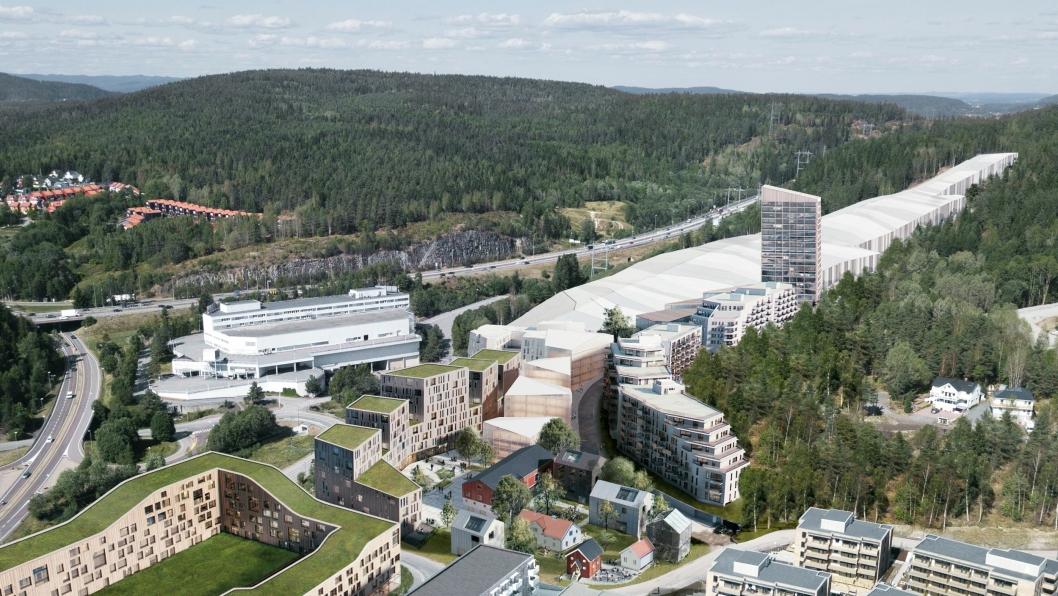 Det nye Thon-hotellet skal bygges inntil innendørsarenaen SNØ.