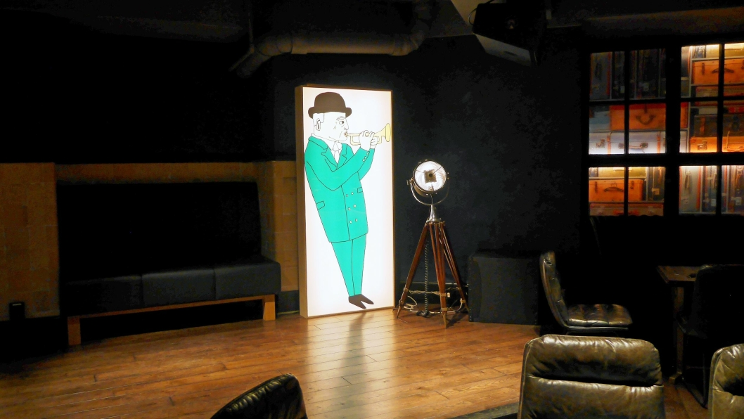 JAZZKLUBB: Jazzklubben Gustav i kjelleren er tydelig inspirert av likesinnede klubber på den andre siden av Atlanterhavet.<br /><br />