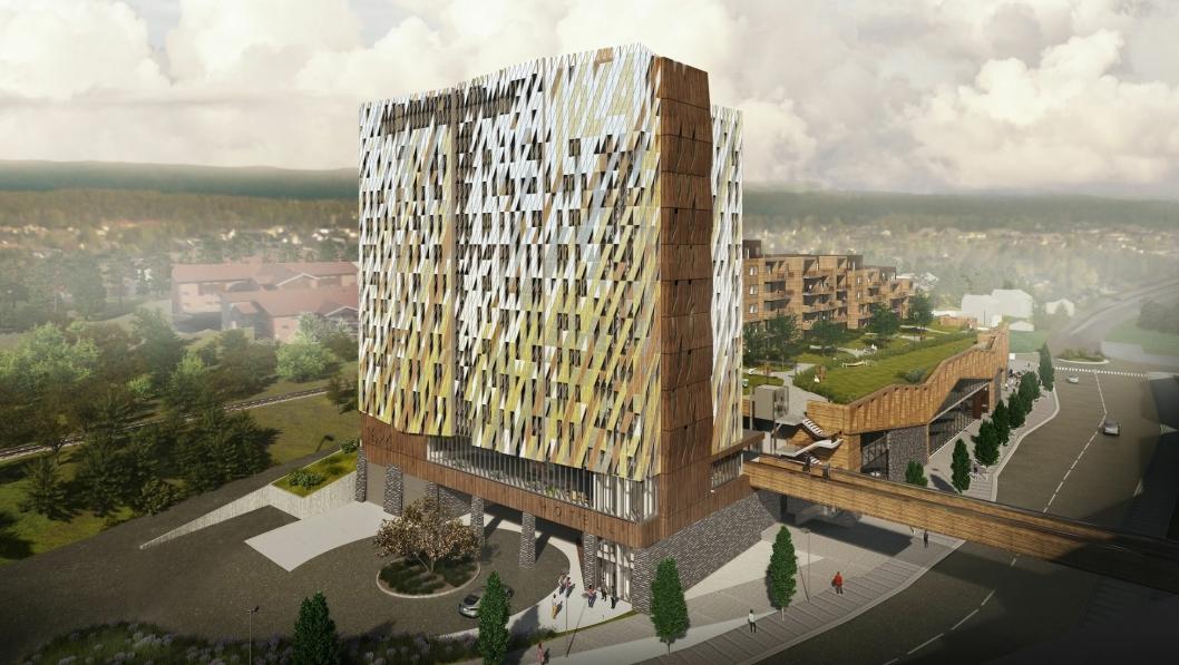 STORT: Hotellet 1624 kommer til å bli et signalbygg med 150 rom og en rekke teknisk innovative løsninger for gjestene.