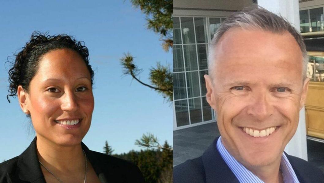 NYE ROLLER: Claus Petersen blir fast hotelldirektør ved Scandic Fornebu og Monica Fladvad Carivau er ny hotelldirektør ved Scandic Solli.