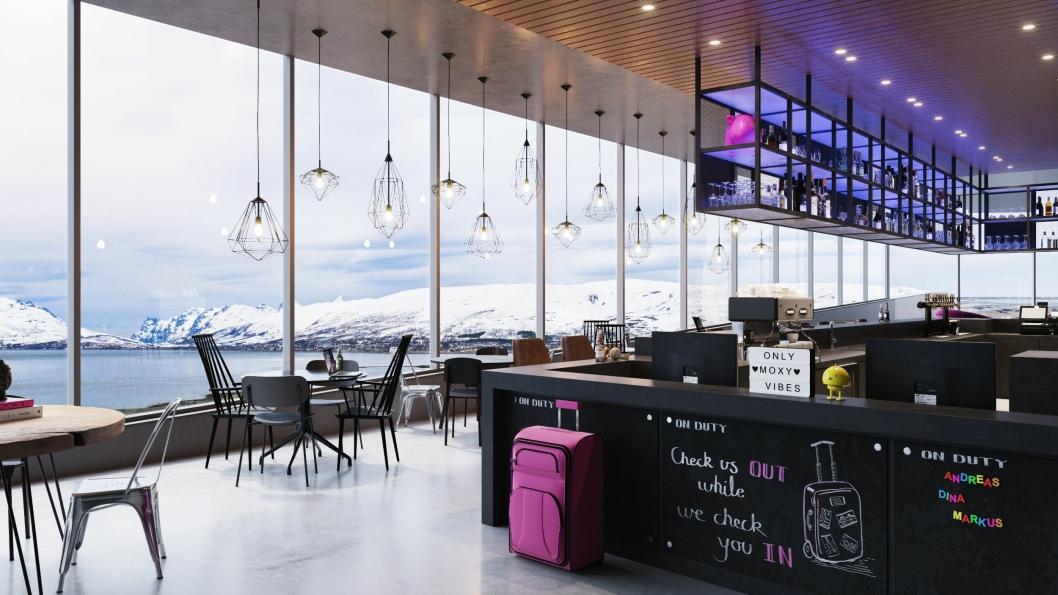 NYTT: Moxy Hotels håper på å kapre sin del av midnattsolturistene i Tromsø.