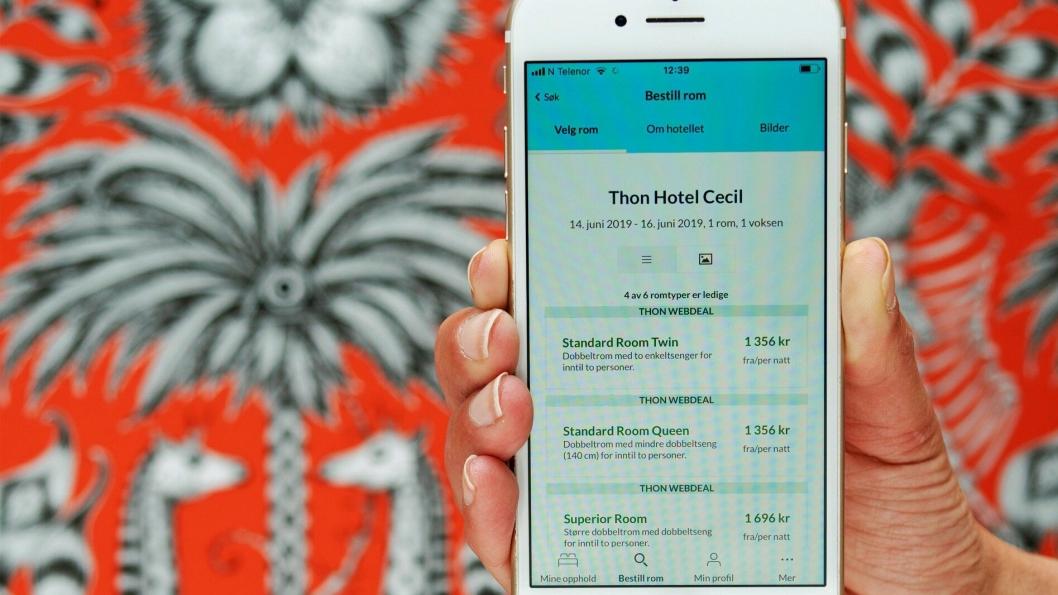 NY APP: Thon Hotels har lansert en ny og bedre app.