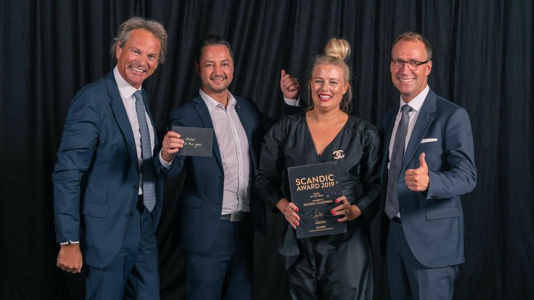 Scandic Lillestrøm vant pris for beste Scandic-hotell i Norden.