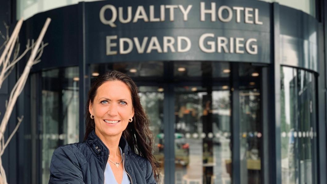 NY SJEF: Monica E. Selvik er ny slagsdirektør på Quality Hotel Edvard Grieg.