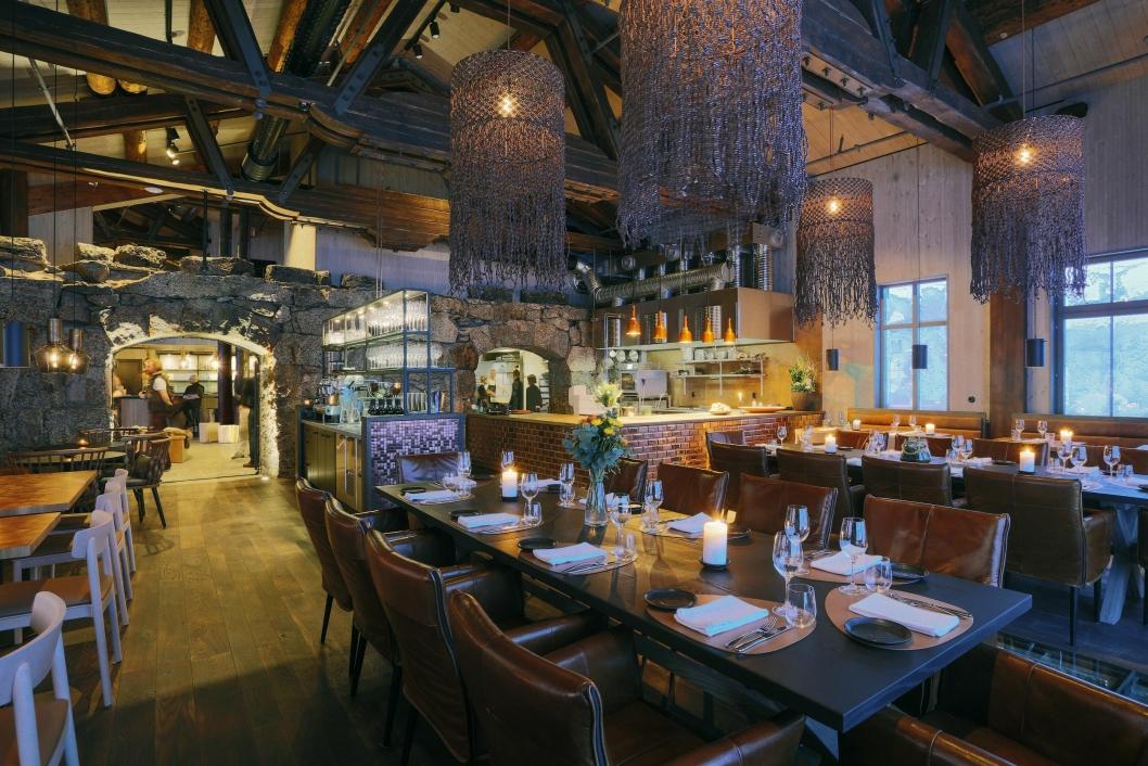 DELIKAT: Det er ikke bare maten som er av ypperste klasse i restauranten. Også innredning og design er helt fantastisk.