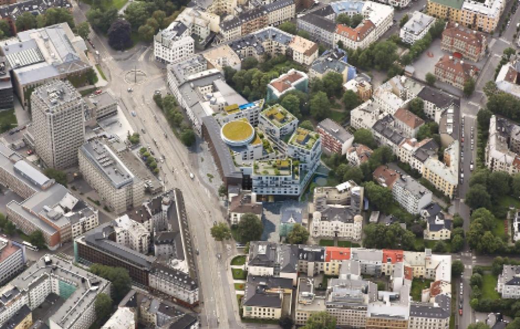 RUVENDE: Bygget blir et nabolagsmonument på Frogner i Oslo.