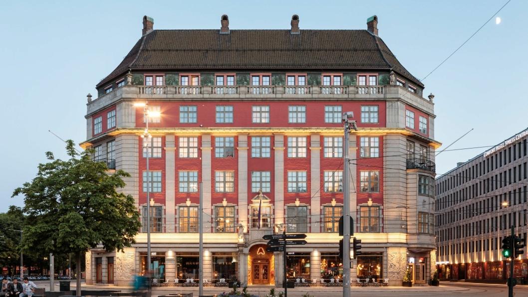 PÅ TOPP: Amerikalinjen åpnet i mars 2019 og er nå rangert som Nord-Europas beste hotell av Condé Nast´s lesere.