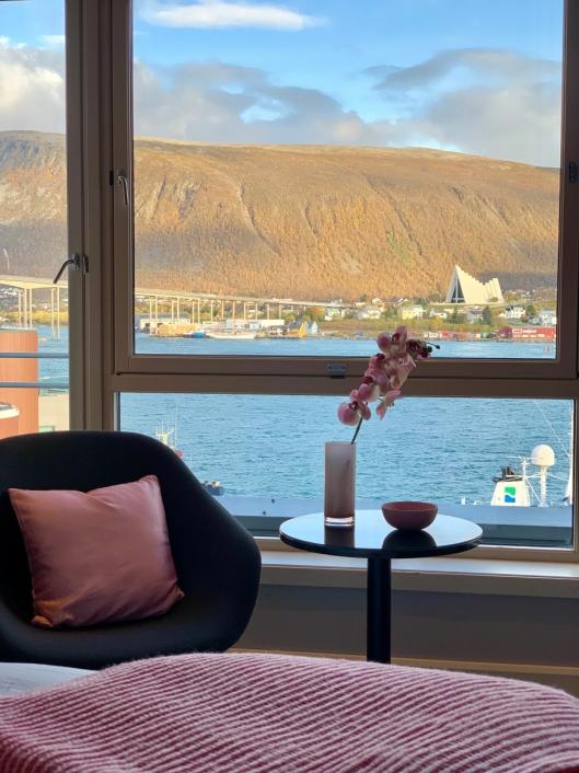 Også i Tromsø har de utstyrt rommene med rosa detaljer i oktober.