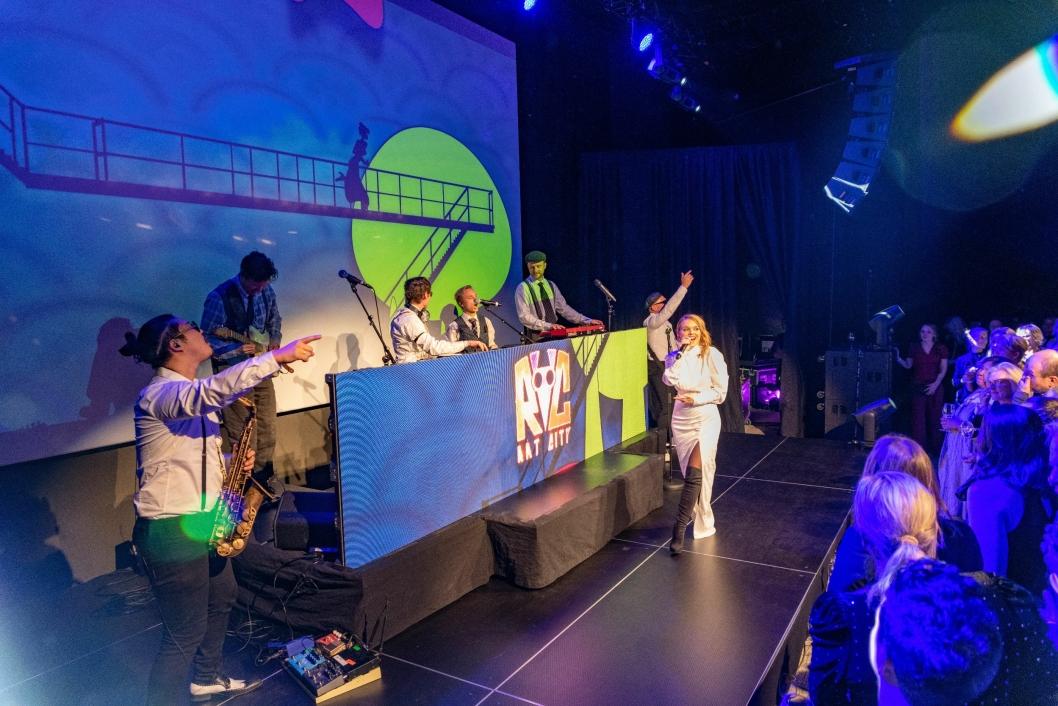 RAT CITY: Drammensbandet Rat City, kjent fra blant annet Donkeyboy, spilte på festen.