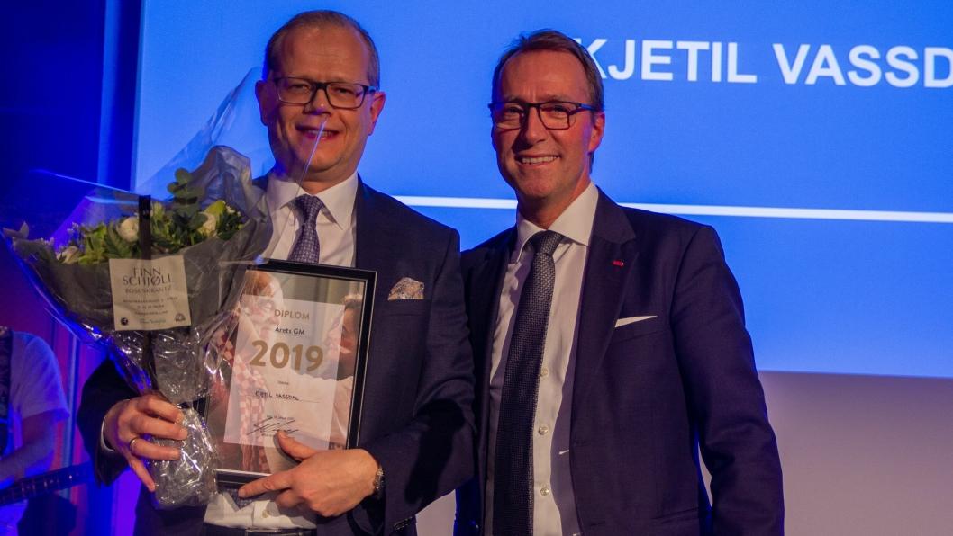 GLAD: Kjetil Vassdal (t.v.) og Jens Mathiesen President & CEO i Scandic Hotels.