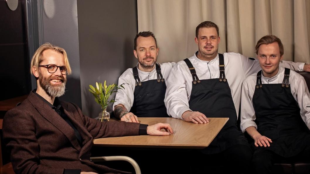 BERGENSBØLGE: Crewet som har en stor del av æren for at Bergen nå har fått sin første stjerne i Michelin-guiden.