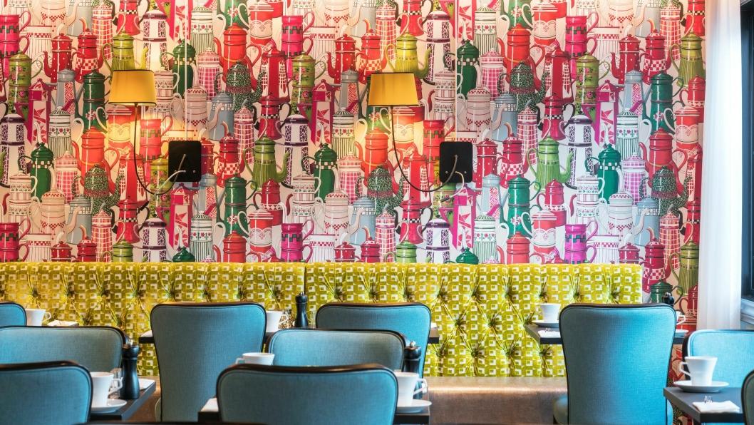 FRISK START: Frokostsalen har fått nye farger og nytt innhold.