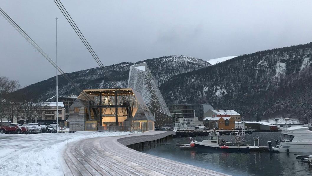 BYGGESTART: Nå starter byggingen av Romsdalsgondolen på Åndalsnes.