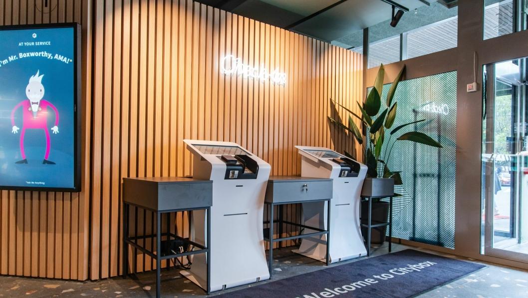SELVHJELP: Hos Citybox sjekker man både inn og ut selv.