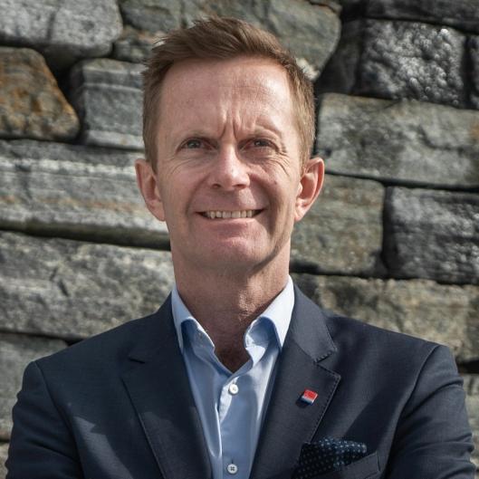 FORNØYD 1: Stephen Stephen Meinich-Bache i Classic Norway Hotels.